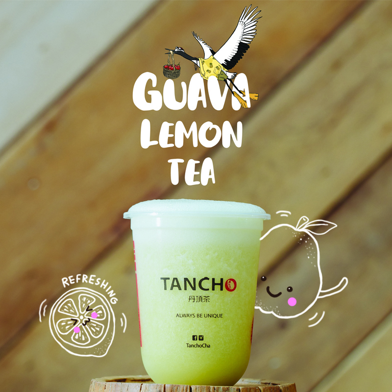 guava lemon tea product menu